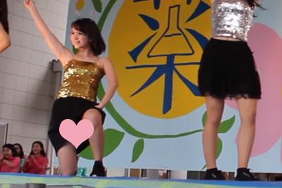 【文化祭 パンチラ】え、まじ!?見せパン履いてないの!?!?www 問題のシーン9:37