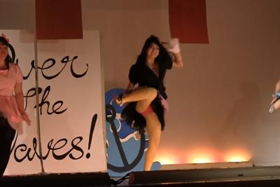 【文化祭 パンチラ】演劇部JKが全校生徒の前でピンクパンツ大胆露出の黒歴史ww 問題のシーン6:41