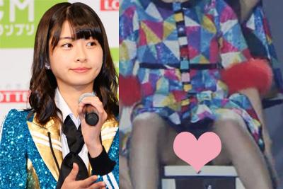 【アイドル パンチラ】HKT48松岡はな、ライブで股を開いてパンチラww
